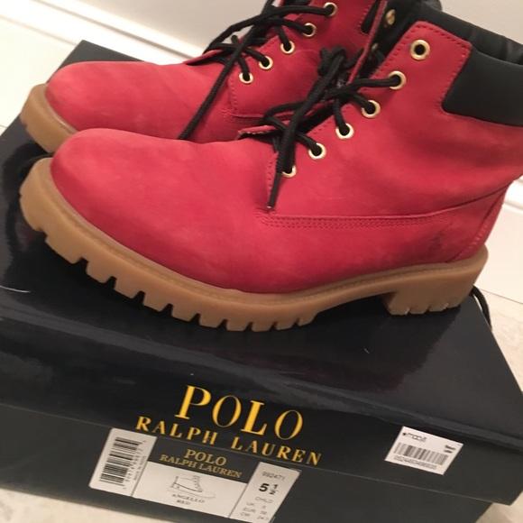 Ralph Lauren Red Boot Kids 55
